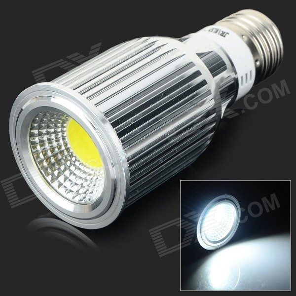 JRLED E27 10W 800lm 6500K COB LED White Light Spotlight - Silver (AC 85~265V) jrled gu10 5w 330lm 6500k white light led spotlight lamp silver white ac 85 265v 5pcs