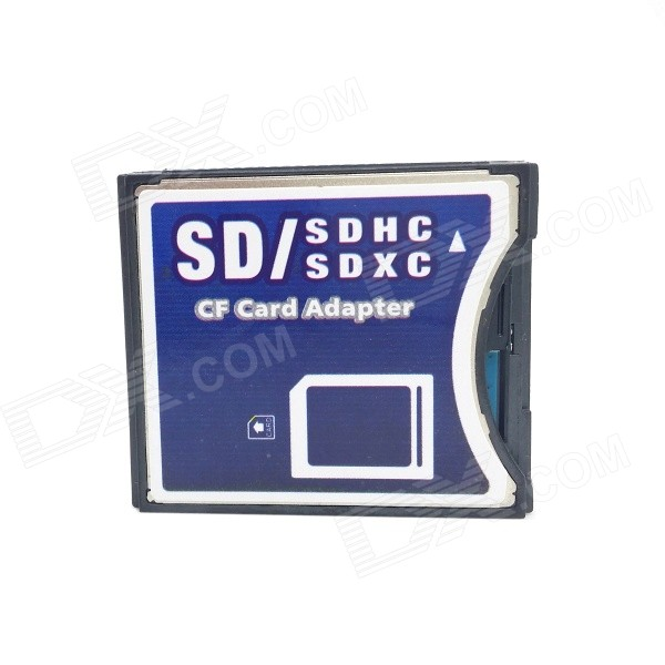 цена на CY EP-025 MMC/SD to CF II Card Adapter Support Wi-Fi SD Card for SLR Camera - Black + Deep Blue
