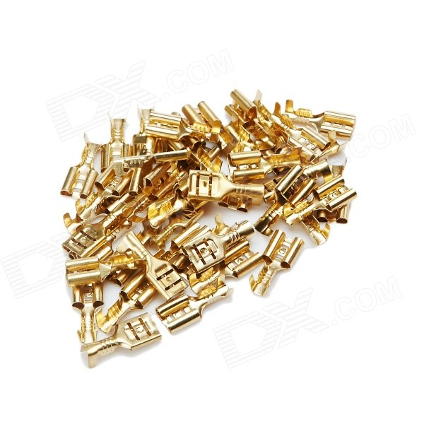 Speaker Amplifier Cable Terminal Lug / Adapter Terminals - Golden (95 PCS)