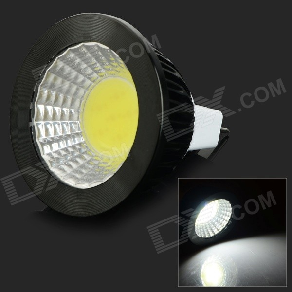JRLED MR16 4W 300lm COB LED Luz Fria Branco Spotlight - Preto