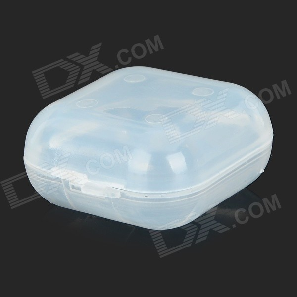 Portable Plastic Sound-proof Ear Plugs Storage Box - Transparent White