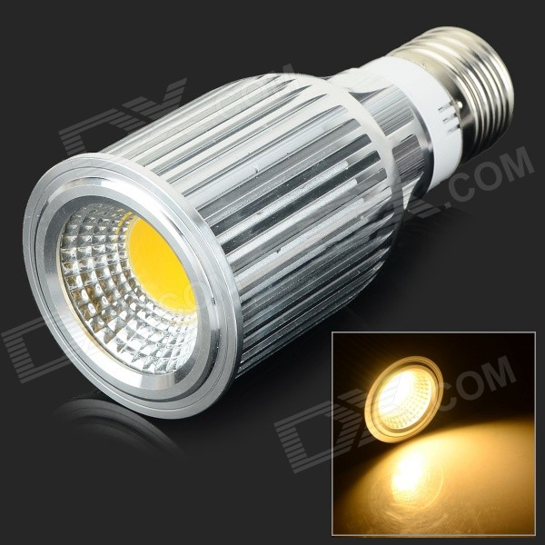 JRLED E27 10W 800lm 3300K COB LED Warm White Light Spotlight - Silver (AC 85~265V) jrled gu10 5w 330lm 6500k white light led spotlight lamp silver white ac 85 265v 5pcs