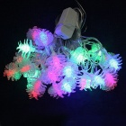 15W 500lm 28-LED RGB Pine Nuts Style Decorative String Light for Christmas - White (4M / 220V)