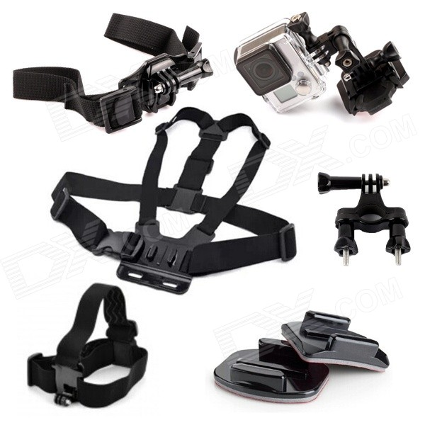SMJ G-616 Outdoor Cycling / Riding Mount Kit for Gopro Hero 2 / 3 / 3+ - Black three dimensional adjustable helmet side mount for gopro hero 3 3 2 1 black