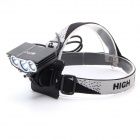ZHISHUNJIA ZSJ-X3 2000lm 4-Mode White 3-LED Bicycle Light - Black (6 x 18650)