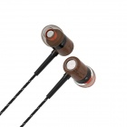 Langston 3.5mm de madera + Metal estilo In-Ear auriculares - negro (120cm)