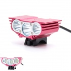 ZHISHUNJIA ZSJ-X3 2000lm 4-Mode White 3-LED Bicycle Light - Red (6 x 18650)