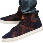 NT00544-16 Men's Fashionable Casual Nubuck Leather High Shoes Sneaker - Dark Blue (43)