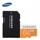 Samsung Micro SDHC TF Card 64GB Class 10 w/ TF to SD Card Adapter -  Orange (64GB)