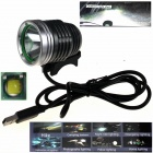 ZHISHUNJIA ZSJ-5VT6 780lm 3-Mode 1-LED White Light 5V Mobile Power USB Bike Headlamp - Silver + Grey
