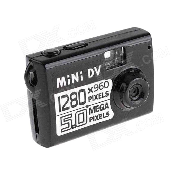 HD Mini DV Camera - Black jj airsoft 3x magnifier with killflash and xps 3 2 red dot black tan buy one get one free killflash kill flash