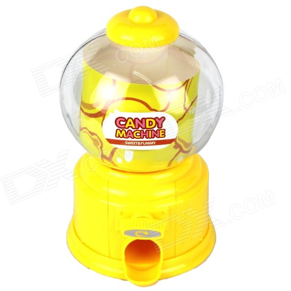 Manual Rotation Torsion Candy Machine / Piggy Bank - Yellow (350mL)