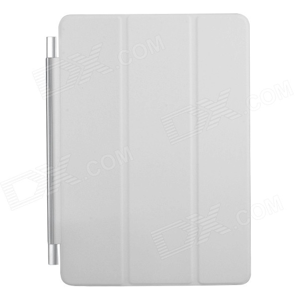 Ultra-thin Protective PU + Plastic Cover w/ Auto Sleep Function for IPAD AIR - White