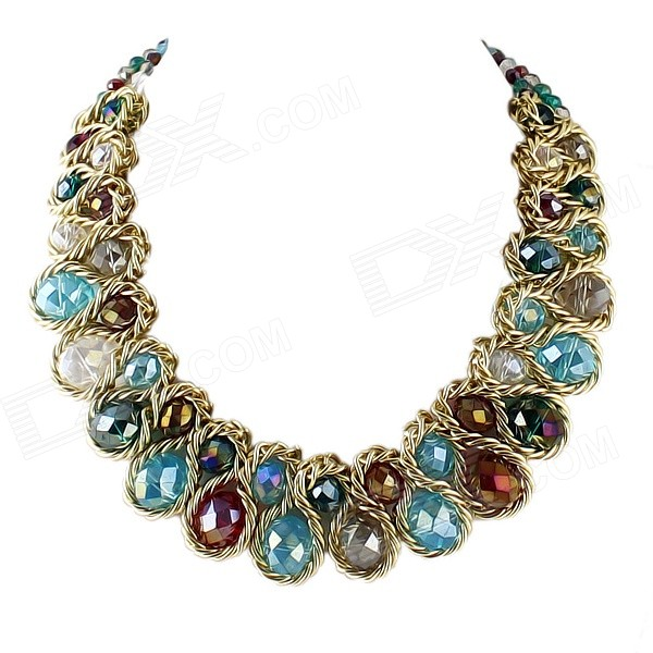 Women's Fashion Bohemia Style Multilayer Zinc Alloy Necklace - Antique Bronze + Multi-Color old antique bronze doctor who theme quartz pendant pocket watch with chain necklace free shipping