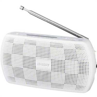 Sony SRF-18 Portable Stereo Radio-White