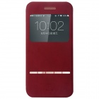 BASEUS Protective Flip Open PU + PC Case w/ Stand / Display Window for IPHONE 6 - Red
