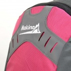 MAKINO MBB5435 Water-resistant Chinlon Outdoor Hiking Rugzak w / Regenhoes - Deep Pink (40L)