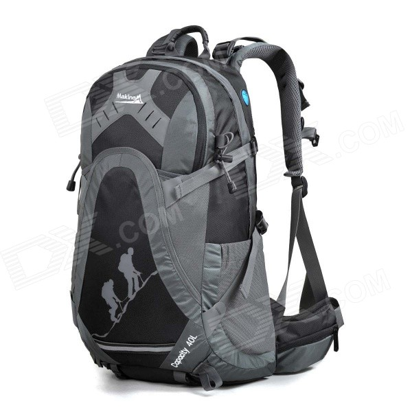 MAKINO MBB5435 Water-resistant Chinlon Outdoor Hiking Backpack w/ Raincover - Black (40L)