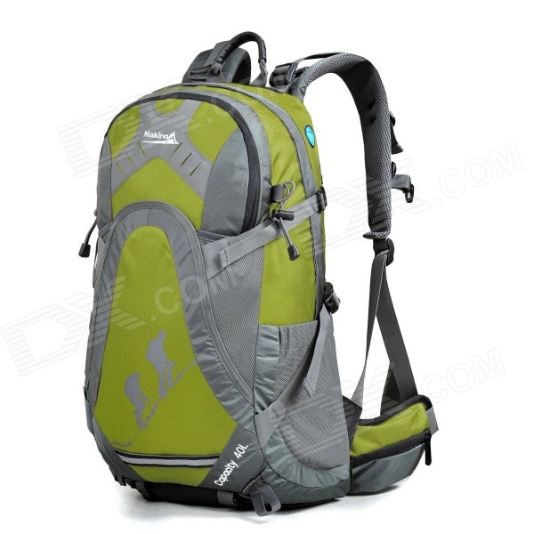 MAKINO MBB5435 Water-resistant Chinlon Outdoor Hiking Backpack w/ Raincover - Green (40L)