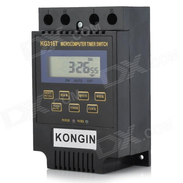 "2.0"" LCD Micro-Computer Electric Power Timer Switch Time Controller with Clock (220V)"