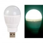 Ball Bulb Shaped Super Bright USB Powered Mini LED Night Light - White