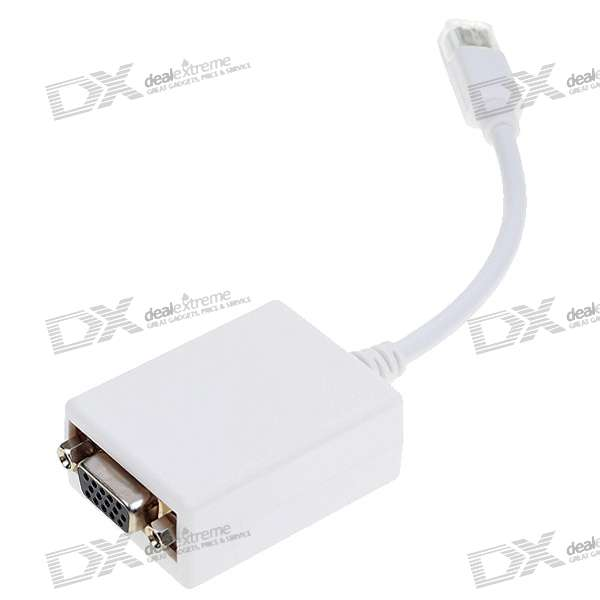 Mini DisplayPort to VGA M-F Adapter (White)