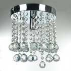 Conca X9463 E27 Base Holder Crystal Light Ceiling Lamp - Silver