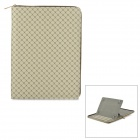 "Plaid Pattern Universal 360 Degree Rotational Zipper Bag for 9"" / 10"" / 11"" Laptop - Beige + Brown"