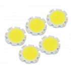 JRLED 7W 700lm 6500K 14-COB-LED White Light Emitter Boards - Weiß + Beige (DC 23 ~ 25V / 5 PCS)