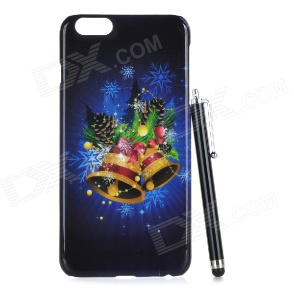 Christmas Bell Pattern Protective PC Back Case for IPHONE 6 PLUS - Black man scoot at the basket pattern protective pc back case for iphone 6 plus transparent black