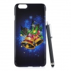 Christmas Bell Pattern Protective PC Back Case for IPHONE 6 PLUS - Black