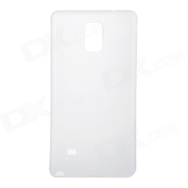 Ultra-Slim 0.3mm Matte Plastic Back Case for Samsung Note 4 / N9100 - Translucent White ultra slim clear phone cases for samsung galaxy s6