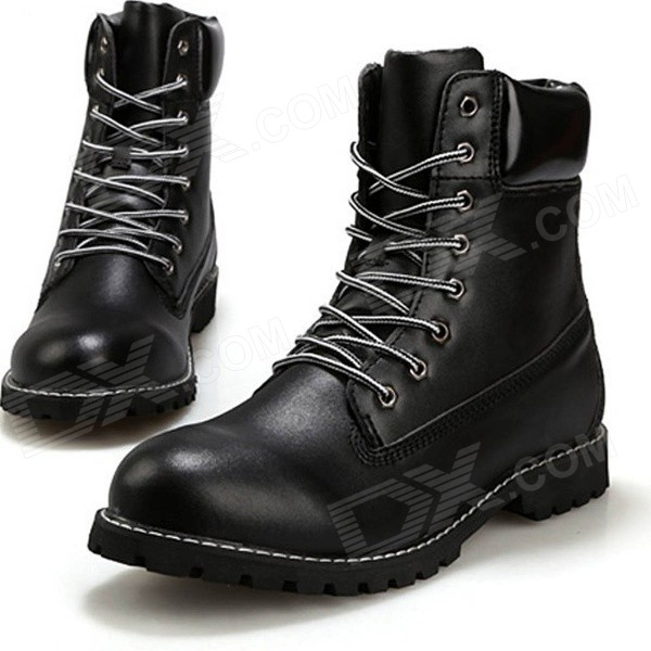Fashion Retro Men's Winter PU Martin Boots - Black (41 / Pair) river island river island ri004awhqv85