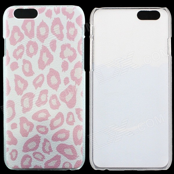 Leopard Print Pattern Protective Matte Hard PC Back Cover Case for IPHONE 6 - Pink sweet bowknot pattern hard back cover pc case for iphone 6 translucent pink