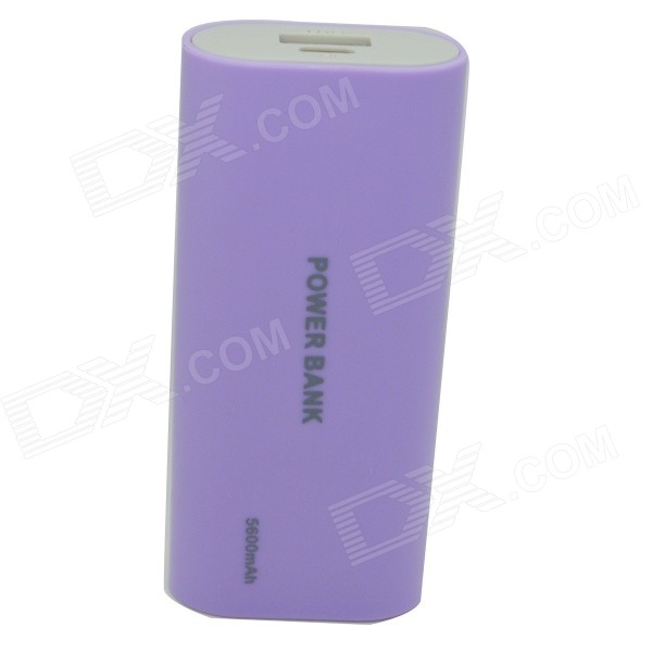 Universal 5200mAh External Li-ion Battery Charger Power Bank w/ LED Indicator / USB Cable - Purple universal 5200mah external li ion battery charger power bank w led indicator usb cable purple