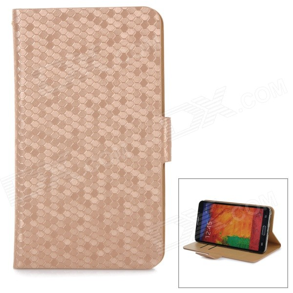 Snakeskin Pattern Flip-open PU Case w/ 360' Rotary Stand / Card Slot for 5.3~5.5 Cellphones - Gold snakeskin pattern protective pu plastic flip open case w card slots for iphone 5c silver