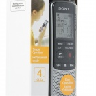 sony ICD-BX140 MP3 4GB digital stemme IC-opptaker -Silver + svart