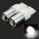 JRLED T20D / 7443 3W 300lm 8000K 3-COB-LED Cool White Car Steering Lampen - White (DC 12V / 2 PCS)