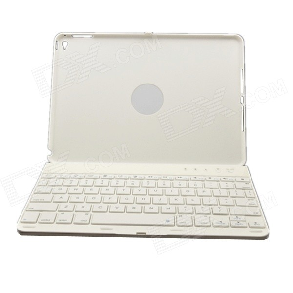 Wireless Bluetooth V3.0 78-Key Keyboard w/ 360' Rotary Case / Stand for IPAD AIR 2 - White