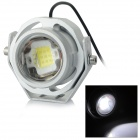 JRLED Waterproof 10W 700lm 15000K LED Cool White Spotlight Fish Coral Growth Lamp - Silver (12V)