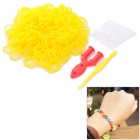 DIY Educational Silicone Rubber Band Bracelet for Children - Yellow (300 PCS)