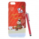 Christmas's Gift Protective PC Back Case w/ Stylus Pen for IPHONE 6 PLUS - Red