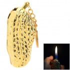 Creative Peanut Style Butane Gas Lighter - Gold