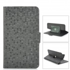 "Universal Snakeskin Pattern PU Leather Case w/ 360-Degree Rotation Stand for 5.3~5.5"" Phone - Black"