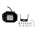 GULEEK F018BF 18W 1260lm 6000K 6-LED White Flood Light Working Lamp for Offroad Car