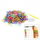 DIY Educational Weaving Silicone 600-Bands + S-Buckle Bracelet Set for Kids - Multicolored