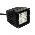 GULEEK F012S 12W 840lm 6000K 4-LED White Spot lys Working Lamp for Offroad Car (10 ~ 30V)