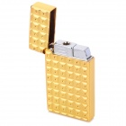 sysh0075 Creative the Water Cube Style Zinc Alloy Butane Lighter - Golden