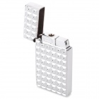 sysh0075 Creative the Water Cube Style Zinc Alloy Butane Lighter - Silver