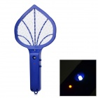 Mini Home Electric Steel Wire Mesh Mosquito Racket - Deep Blue (2 x AA)